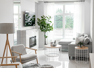 Modern Townhomes Living Room