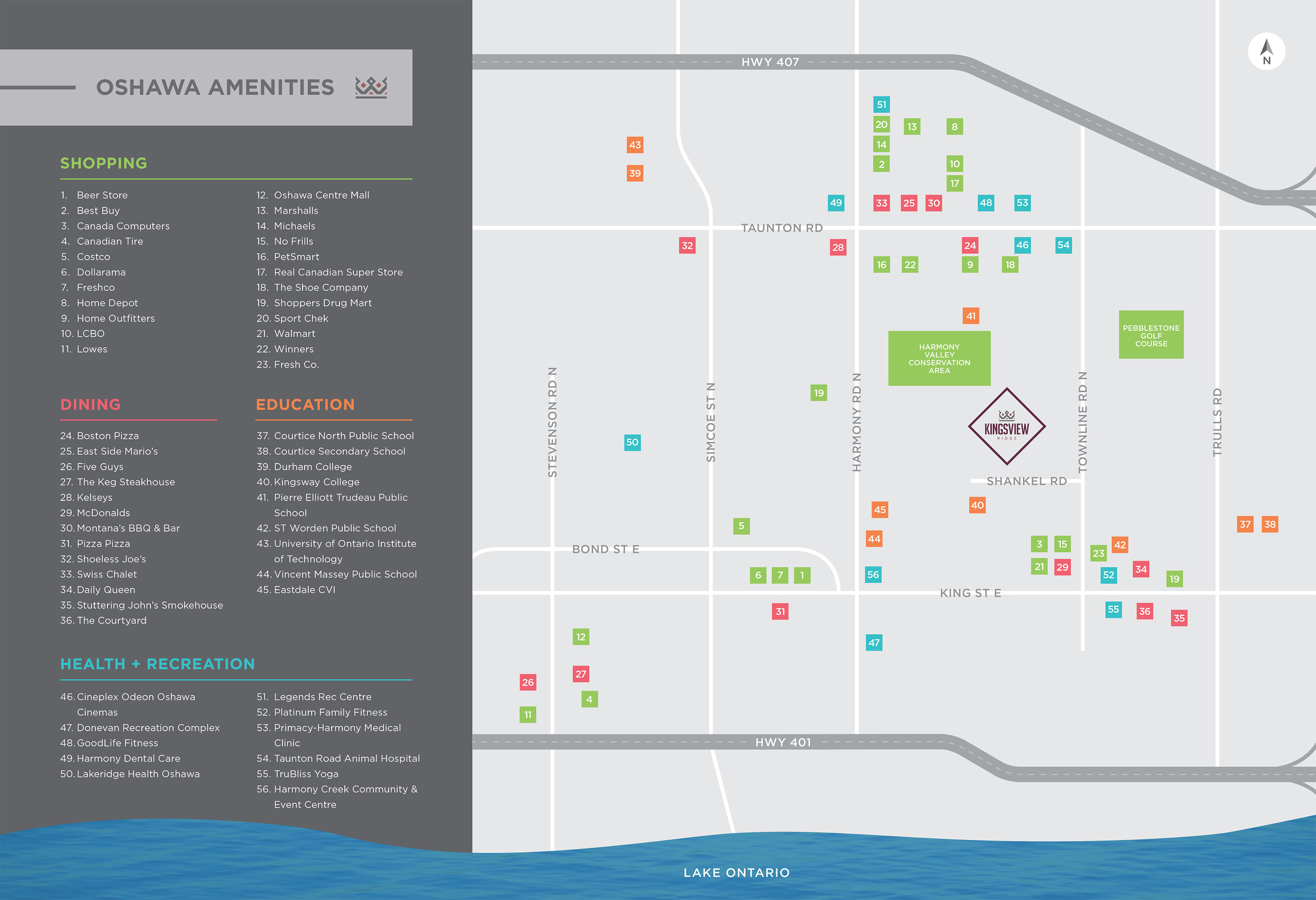 Kingsview Ridge Amenities Map