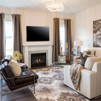 Luxury New Home Living Room