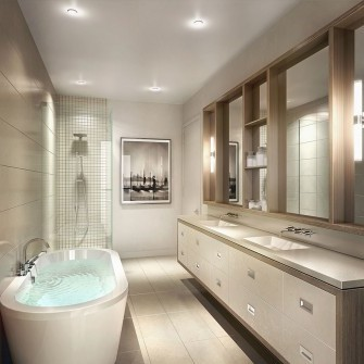 Modern New Townhome Bathroom