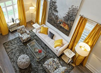 Luxury New Home Living Room