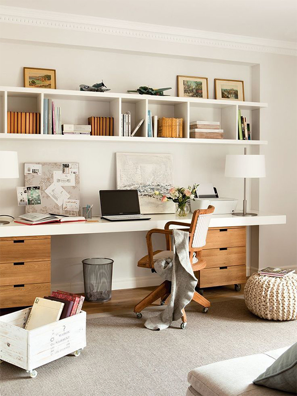 Office desk with elegant chair
