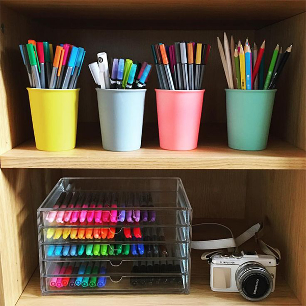 Pens and pencils as accessories