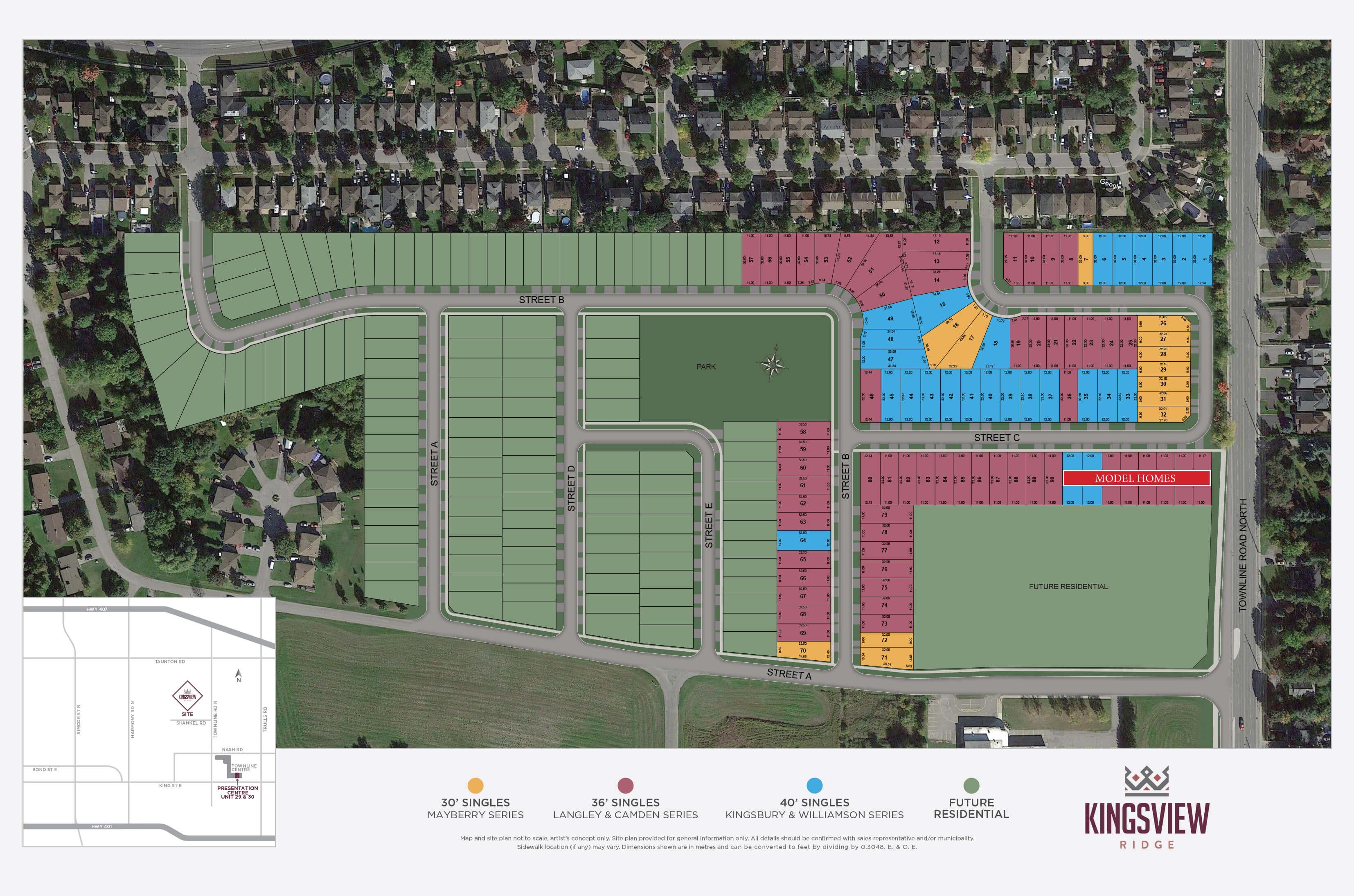 Kingsview Ridge Site Plan
