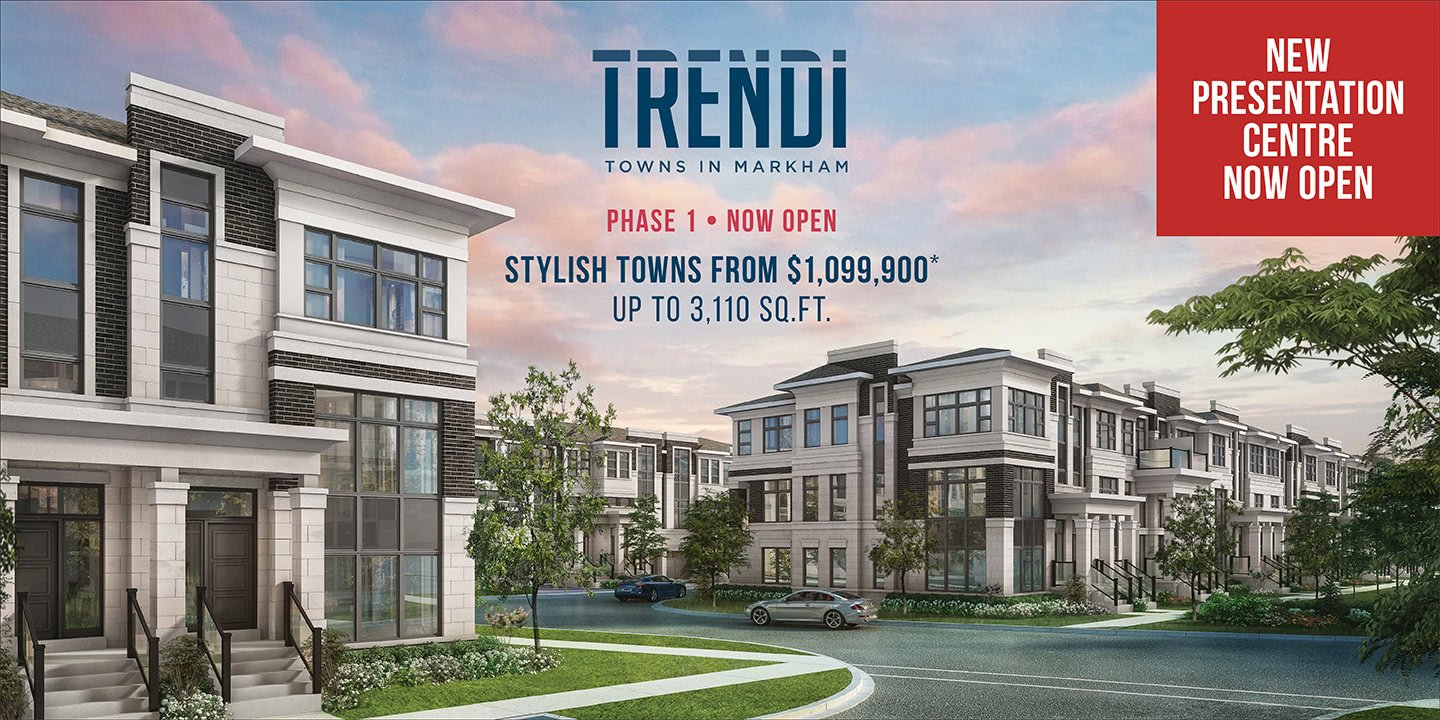 New Townhomes in Markham - Now Open